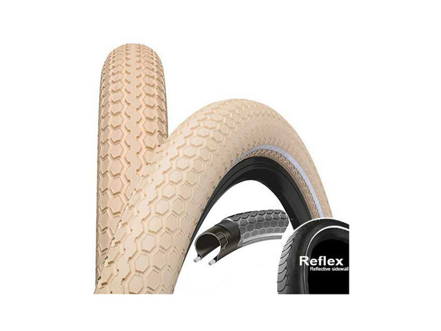 "Continental Ride Cruiser E-25 Bike Tyre 26"" Reflex beige"